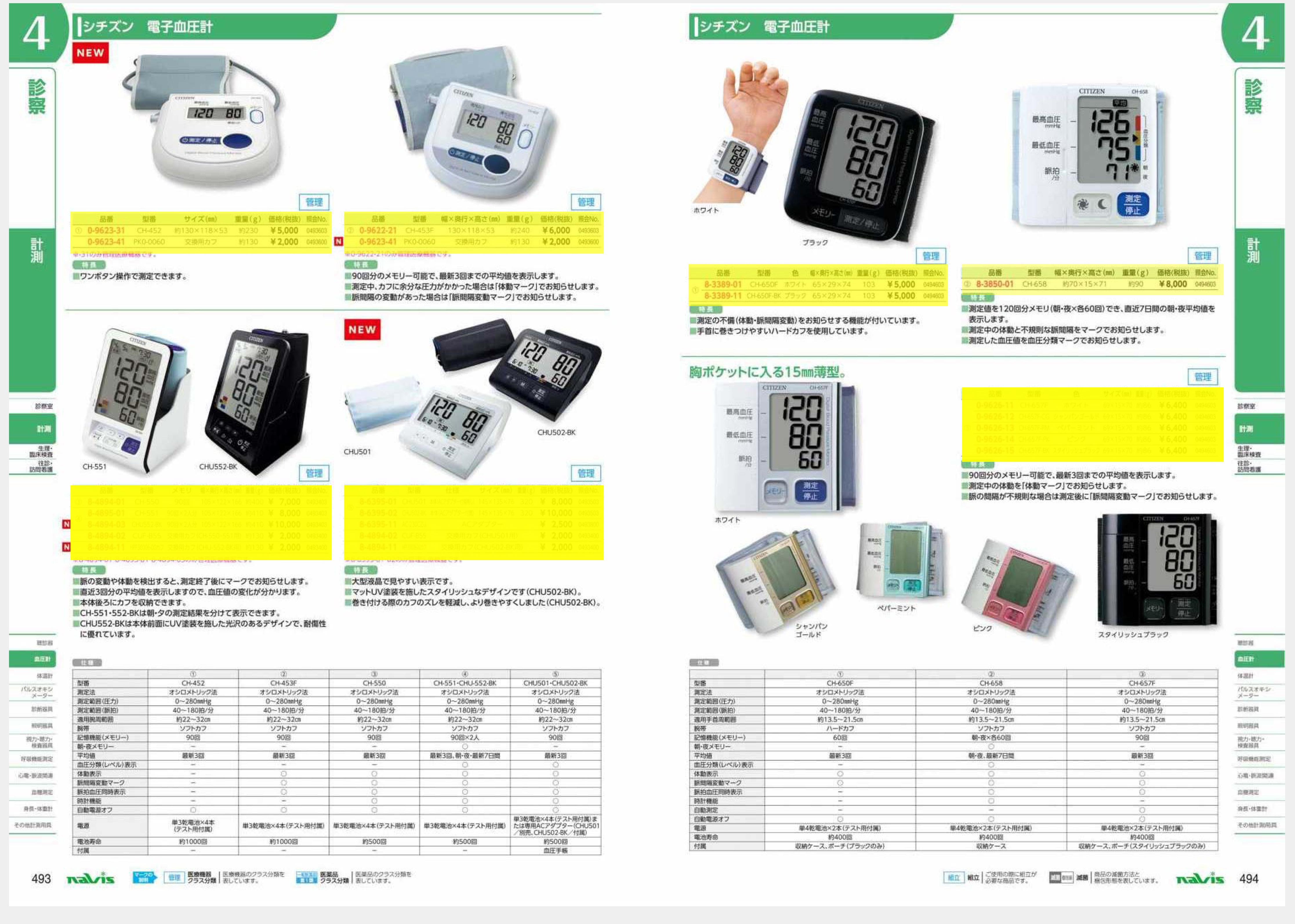 ナビス50000 CITIZEN 8-4894-02 電子血圧計 CUF−B55 交換用カフ[個](as1-8-4894-02)